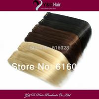 "3pcs/lot 14""-26""  Sew in Weft 100% Human Hair Extension Brazilian Virgin Straight Hair 100g/pc"