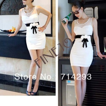 2013 Spring New Sexy Women's Lady Ball Slim sleeveless Mini Dress free shipping 8021