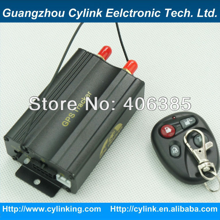 GPS TK103B Car Tracker with Remote Control Unit Special for car/vehicle with Stop Engine,Geofence,Car Alarm system(China (Mainland))