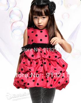 Retail, New 2014 Girls Polka Dot Dress 2-7Y