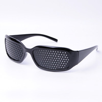 Free shipping 5 pieces Wholesales Pinhole eyewear Health Glasses Black Frame to protect eyes [PGP110]