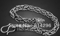 Free  shipping  925 Thai silver pirate male bracelet oxidation prevent allergic