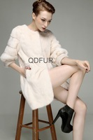 2013 Winter Women Noble Genuine Mink Fur Coat New Style  Female Garment  Wholesale  Retail  OEM  Free Shipping  QD23540