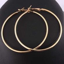 Stylish Nickel Free 18K Gold Hoop Earrings Loop Earrings Celebrity Brand Earrings Women DME008 Magi Jewelry(China (Mainland))
