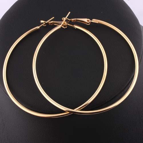Stylish Nickel Free 18K Gold Hoop Earrings Loop Earrings Celebrity Brand Earrings Women DME008 Magi Jewelry(China (Mainland))