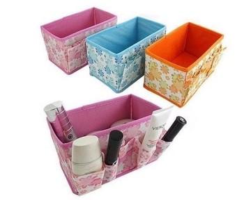 Free shipping Folding Cosmetics Desktop Storage Box Desk collection box 5pcs/lot SW077