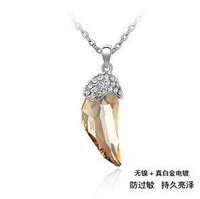 NC12026 Phantom Tusk Lucury Austrian Crystal pendant Gold Plated statement Necklace for women dazzling Fashion Jewelry 2013 New