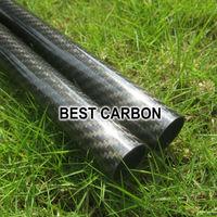 Free shiping 4ps x 25mm x 23mm High Quality 3K Carbon Twill Glossy Fabric Woun Tube ,
