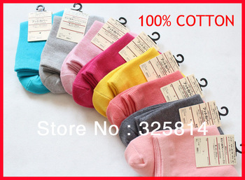 Hot Sale 10pairs/lot Candy Colors Cotton Middle Cut Lowest Price High Quanlity Cute Soft Women Socks Free Shipping
