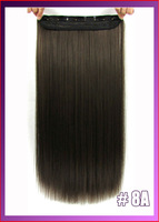 "24""(60cm) 120g straiht clip in hair extensions hairpiece hair pieces accessories color #8A Ash Brown"