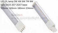 LED PL lamp G23,GX23,2G7,2GX7 option. 3W,4W,6W,7W ,100-271VAC 50pcs/lot,CE RoHS Fedex free shipping gx23 led pl