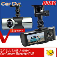 "X3000 2.7"" LCD 140 View Angle Car Dvr+ GPS Logger+Dual Camera+Retail Box(GD-01A)"