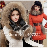 Free Shipping 2013 winter hot female models Nagymaros collar down jacket pocket + down coat + down jacket