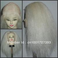 White Full Lace Yak Hair Christmas/Santa Claus Wig