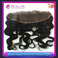 Fast Shipping Body Wave Brazilian Virgin Hair Lace Frontal Piece 13*4 inch Bleached Knots Free Parted