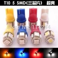 Wholesale Freeshipping T10 5SMD 5050 Car 194 168 192 W5W LED Light Automobile Bulbs Lamp Wedge Interior Light White 50pcs/lot