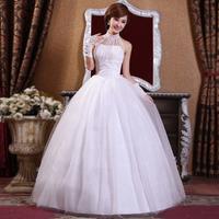 Free Shipping Wedding Dress 2014 Fashion Elegant Halter-neck  Bride Princess Dresses
