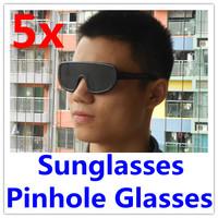 5 x Pinhole Eyeglasses Eyewear glasses Sunglasses  Eye Exercise Eyesight Improve  Retail& Wholesale