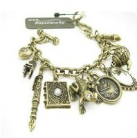Min Order $7 2013 European And American Style Jewelry Retro Mirror Cosmetic Box Frog Bracelet  S0240