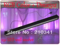 12pc/lot Free Shipping,RGB 252 LED Wall Washer Sound Bar,Dmx Link LED Bar,Colors wash Event LED Flood Light