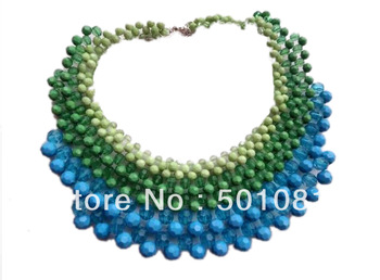 Hot Selling For Summer Exclusive Design Famous Brand Handmade Knitted Multi-layer Acrylic Necklace 5 Colors Factory Price
