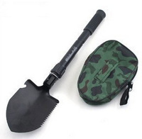Free shipping Hot-Selling Mini Multifunction Folding Shovel Survival Trowel Dibble Pick Camping Outdoors Tool Spade Shovels