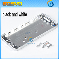 Replacement metal back for Apple i Phone for iphone5 iphone 5 housing battery cover door 1 piece free shipping