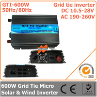 300W DC10.5V~28V AC190-260V 50Hz/ 60Hz Pure Sine Wave Solar Inverter for 420W Solar & Wind Power System Grid tie micro  inverter