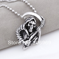 Wholesale (3 Pcs/Lot) 316L Stainless Steel Metal Pendants For Jewelry Making,Death Necklaces 2013 Fashion ,Free Shipping W173