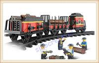 Sluban Train Railway Station Series 255pcs/set DIY Cargobullet Train Educational Building Blocks For Child B0232,Free Shipping