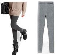 S~4XL Women Plus Size Elastic Waist Thickening Fleece Spring Autumn Winter Boot Cut Leggings Brand New Pencil Skinny Trousers