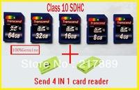 Free Shipping Transcend 32gb SDHC 4gb 8gb 16gb 32gb 64gb sd Class 10 32gb sdhc memory card secure digital card, high speed !