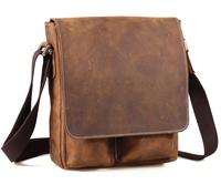 Crossbody bag Men Genuine Leather Vintage Style Messenger Shoulder Bag on sale Free Shipping TIDING 1028-3