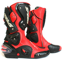 Free shipping 2013 motorcycle boots SPEED BIKERS Racing Boots,Motocross Boots,Motorbike boots SIZE: 40/41/42/43/44/45 [RED]
