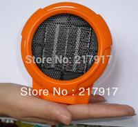 FREE SHIPING Ceramic Space Heater Mini Desktop Fan Heater Portable Personal 110v/100w Orange Grey Color