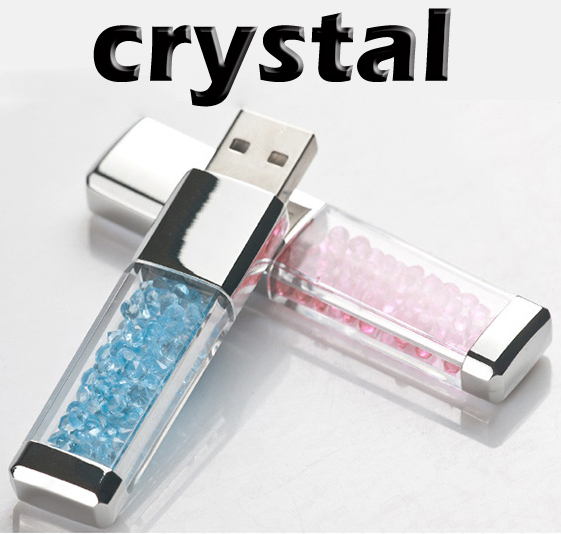 Wholesales New Crystal Set Auger Swarovski Elements usb flash drives USB 2.0 memory flash stick pendrive/christmas Gifts F-H047(China (Mainland))