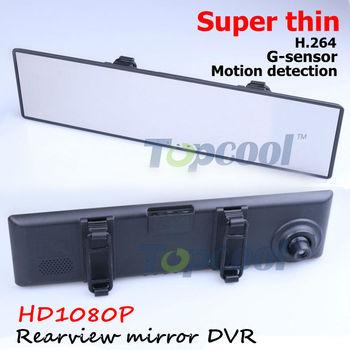 Car DVR camera Mirror Release Rear View Mirror camera DVR Super thin design HD1080P+ motion detection +G-sensor  back mirror DVR