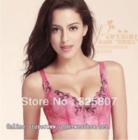 Free Shipping Fashionable Bright Color Lace flower Women's Bra - AV031