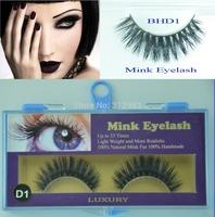 5 Pairs Freeshipping MINK FUR Eye Lash Extension, Artificial Fake False eyelashes BHD1 Wholesale