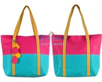 3Pcs/Lot 2013 Designer Handbag Purse Cute Candy Color Synthetic Leather Leisure Tote Shoulder Bag Women  10107