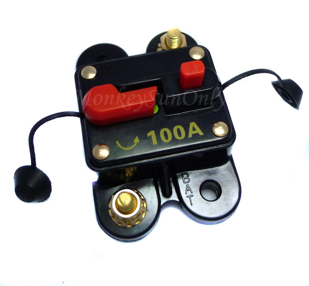 100 Amp 12V DC volts Baixa Tensão de circuito disjuntor para o carro sistema de áudio Amplificador(China (Mainland))
