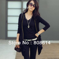 New Cotton Blend Fashion Women Lady Long Sleeve Casual Autumn Top Ladies  Cardigan Free Shipping