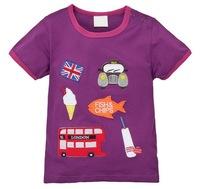 Promotion! Girl's Summer Short Sleeve Tees Cute Animal Designs, 6 Sizes/lot - JBST285/JBST289/JBST318/JBST377/JBST391/JBST412