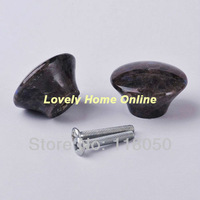 Free Shipping via Express,32mm Whole Granite Style Button Knob,10pcs Stone Wardrobe Drawers Knobs,Fancy Furniture Hardware Item