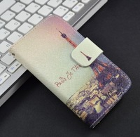 Luxury New design pattern Wallet  leather Flip case for iphone 4 4G 4S cover with card holder,7 colors, with screen protector