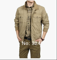 Men's 95% Cotton coats & jackets For man Fashion Brand Outwear Khaki Army  military jacket for men snow wear