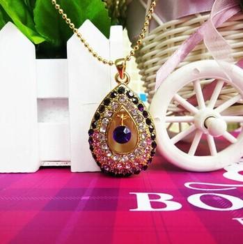 FREE SHIPPING!retail genuine 4GB/8GB/16GB/32GB  angel tears jewelry metal diamond necklace shape usb flash drive