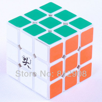 Dayan V 5 3x3x3 cube zhanchi   speed cube white body PVC stickers Free shipping