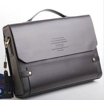 Hot sale ! New Arrival Fashion brown POLO business men bag , Buffalo lines genuine leather messenger bag ,men shoulder bag