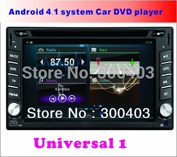 "NEW Universal 8GB 6.2"" LCD Android 4.1 AUTO VEHICLE Car multimedia PC DVD Player LAPTOP GPS Navigation 1GHZ 3G WIFI Bluetooth TV"